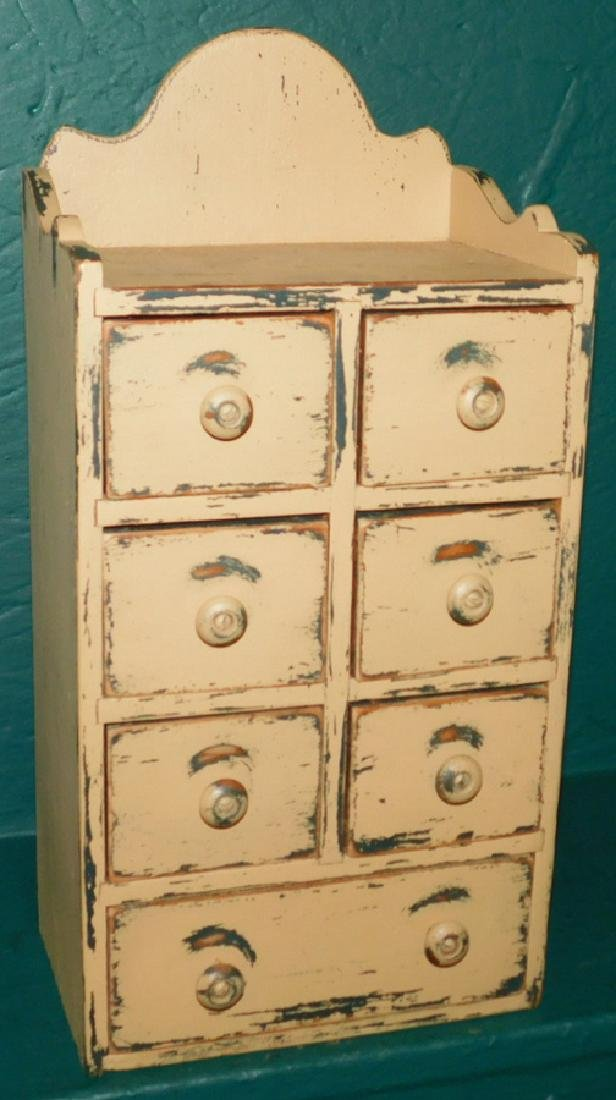 7 drawer miniature painted chest