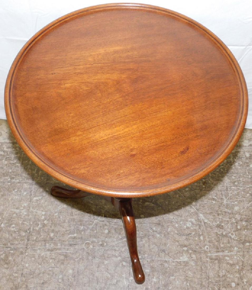 Mahogany Queen Anne candle stand by Biggs - 2