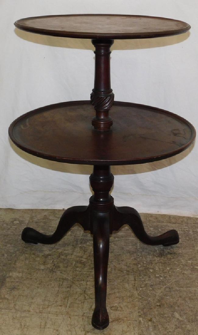 Mahogany 2 tier Queen Anne dumbwaiter