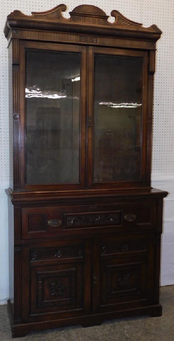 English mahogany secretary, no shelves