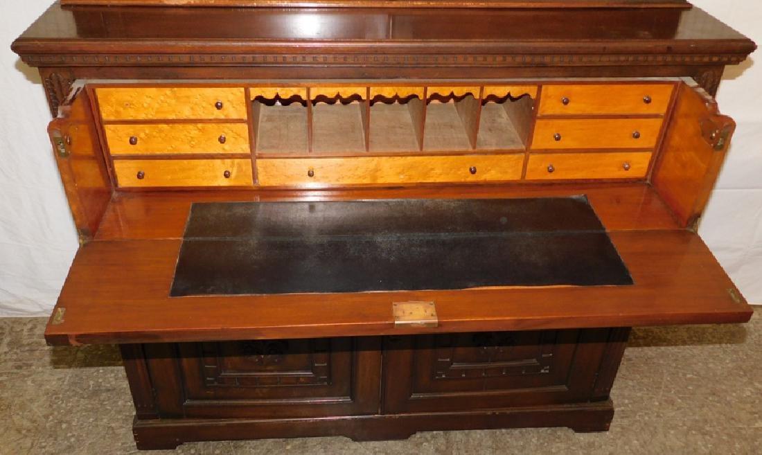 English mahogany secretary, no shelves - 3