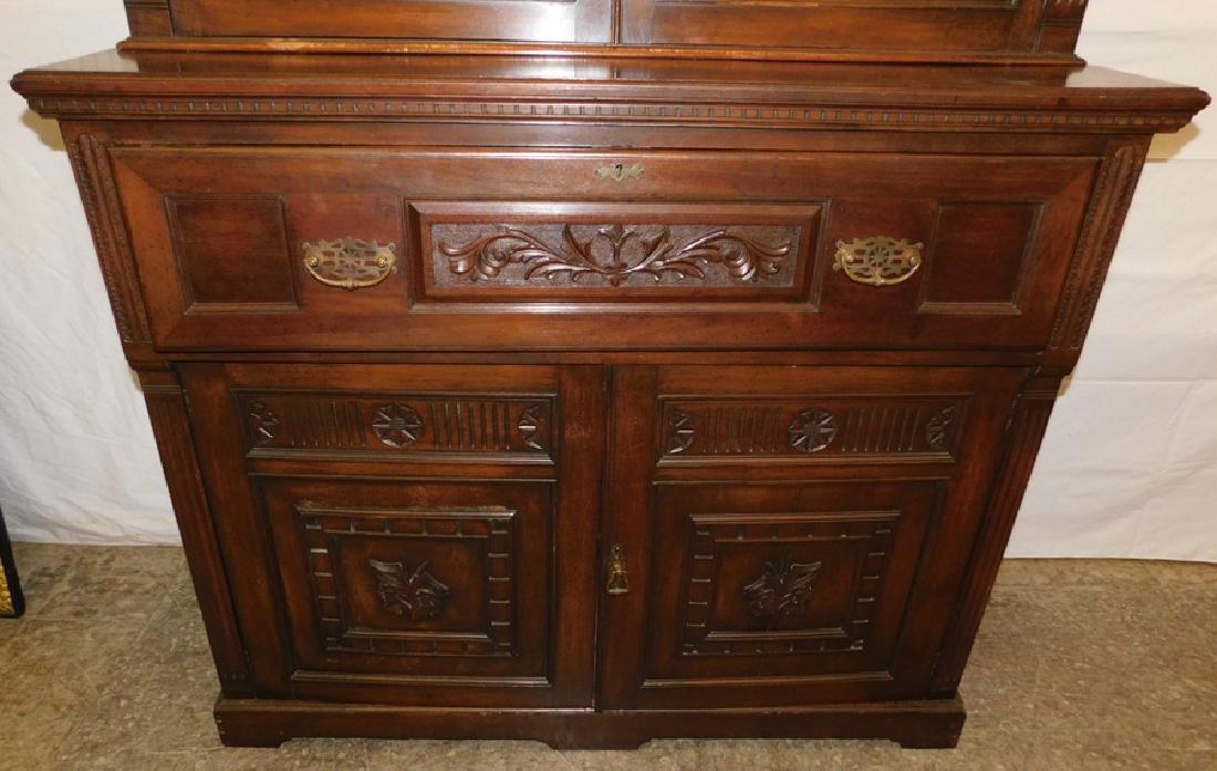 English mahogany secretary, no shelves - 4