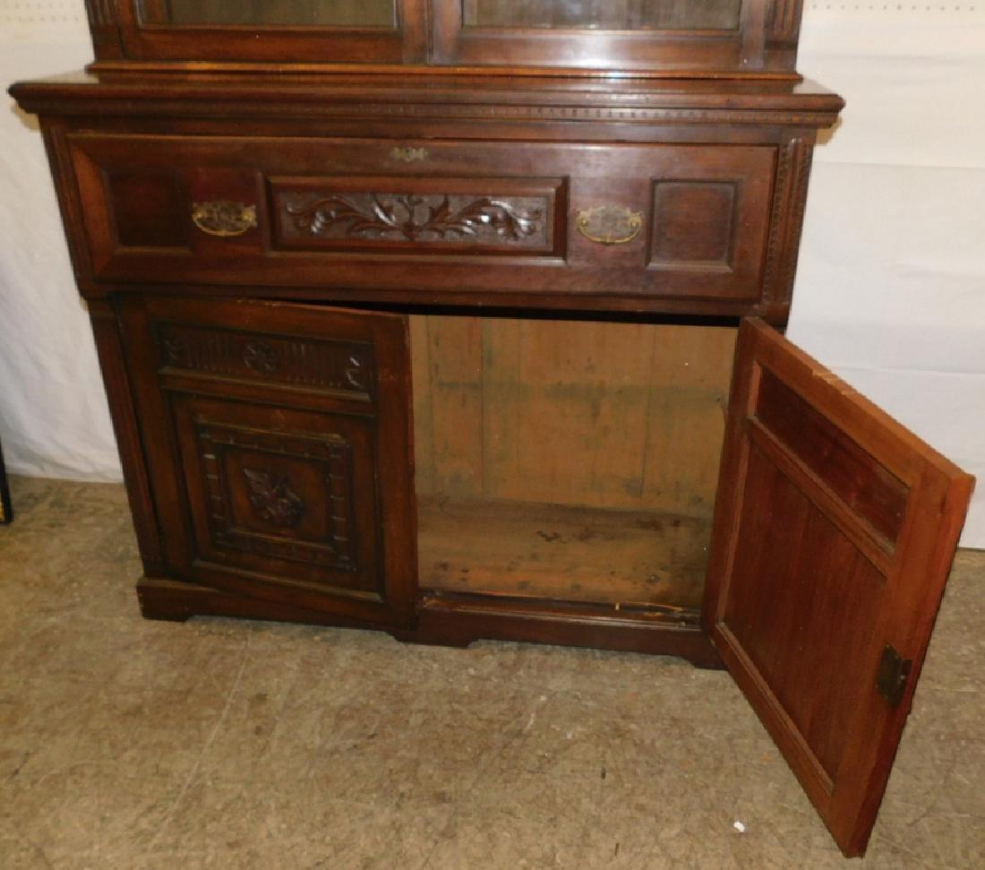 English mahogany secretary, no shelves - 5