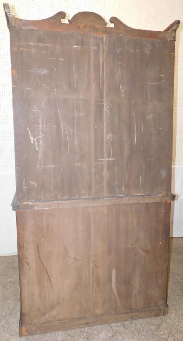 English mahogany secretary, no shelves - 6