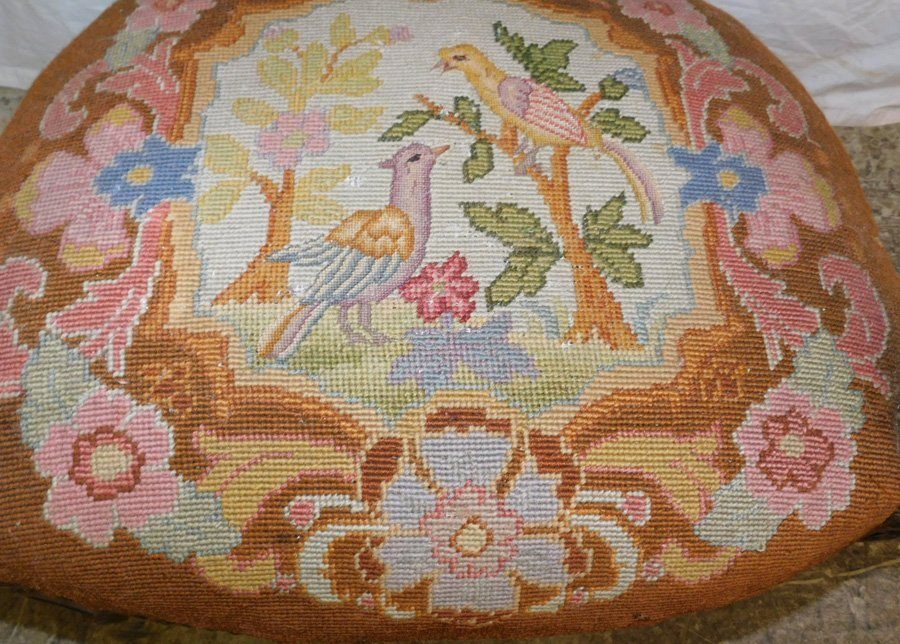 Carved French needlepoint fauteuil - 4