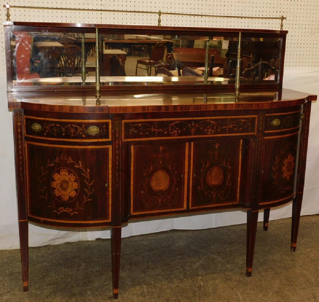 Mahogany Hepplewhite inlaid sideboard