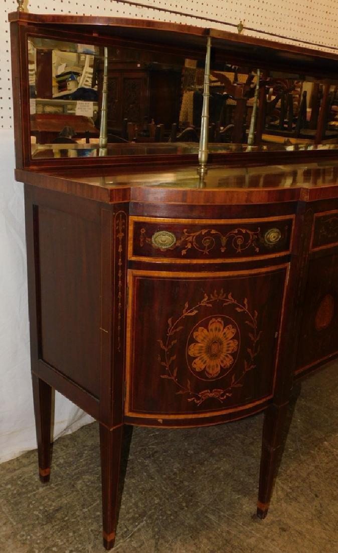Mahogany Hepplewhite inlaid sideboard - 2