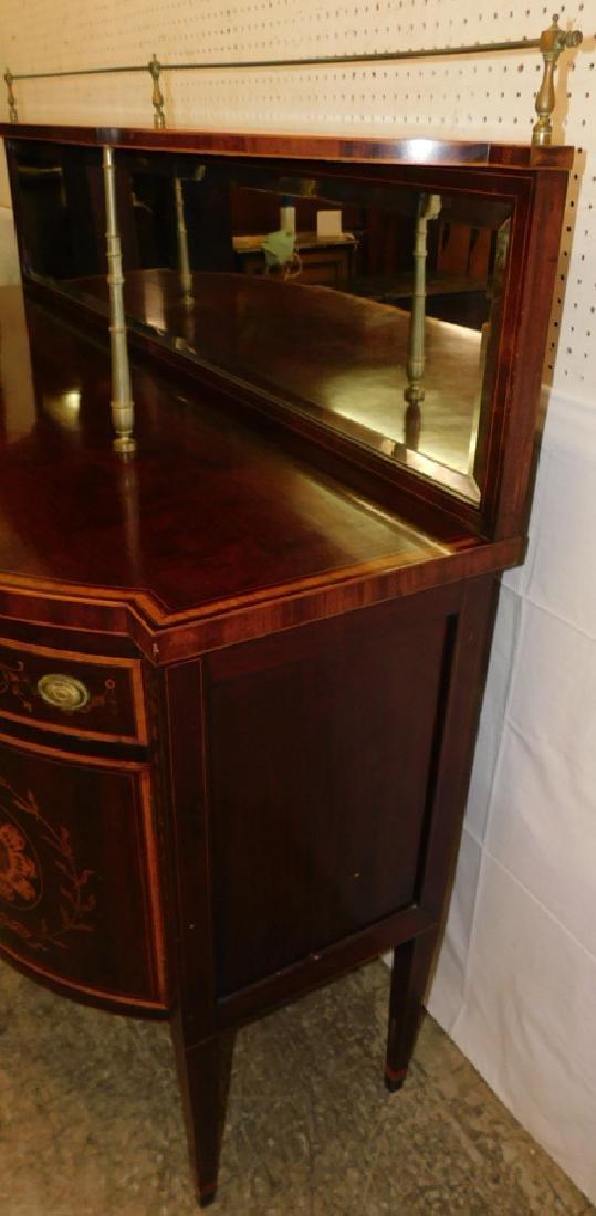 Mahogany Hepplewhite inlaid sideboard - 7