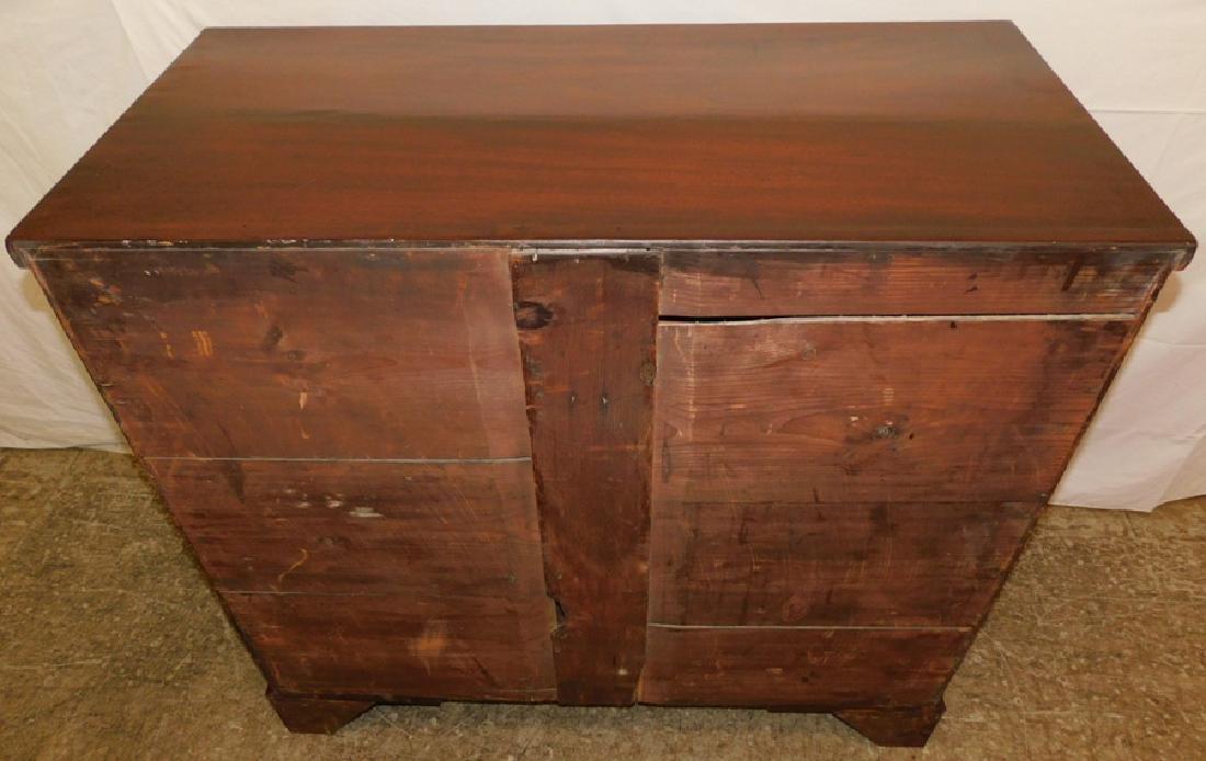 19th C mahogany 2/3 chest - 5