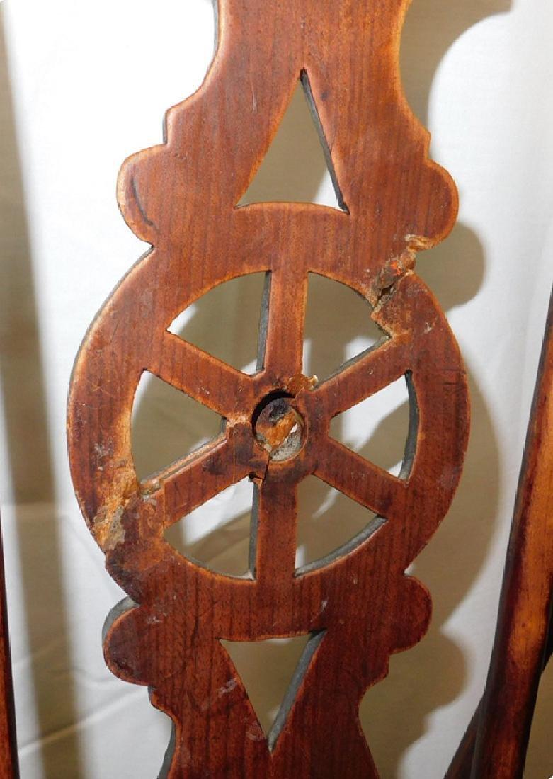 6 Windsor wagon wheel back elmwood chairs - 5