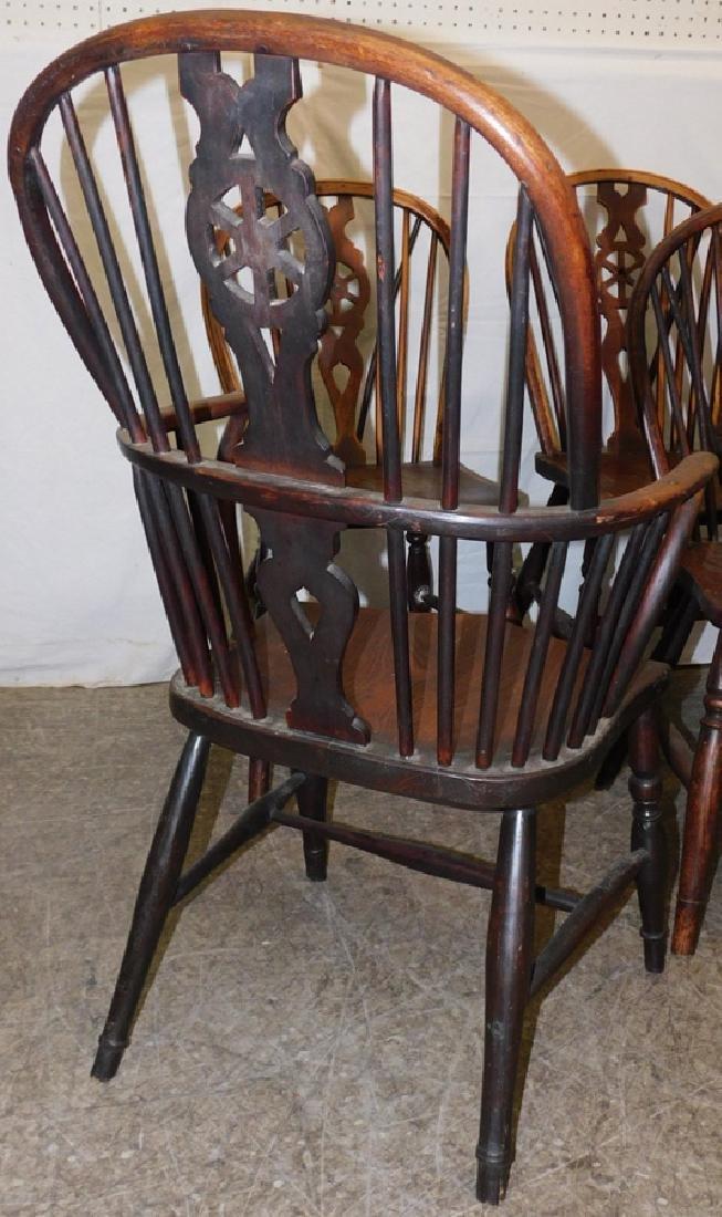 6 Windsor wagon wheel back elmwood chairs - 6