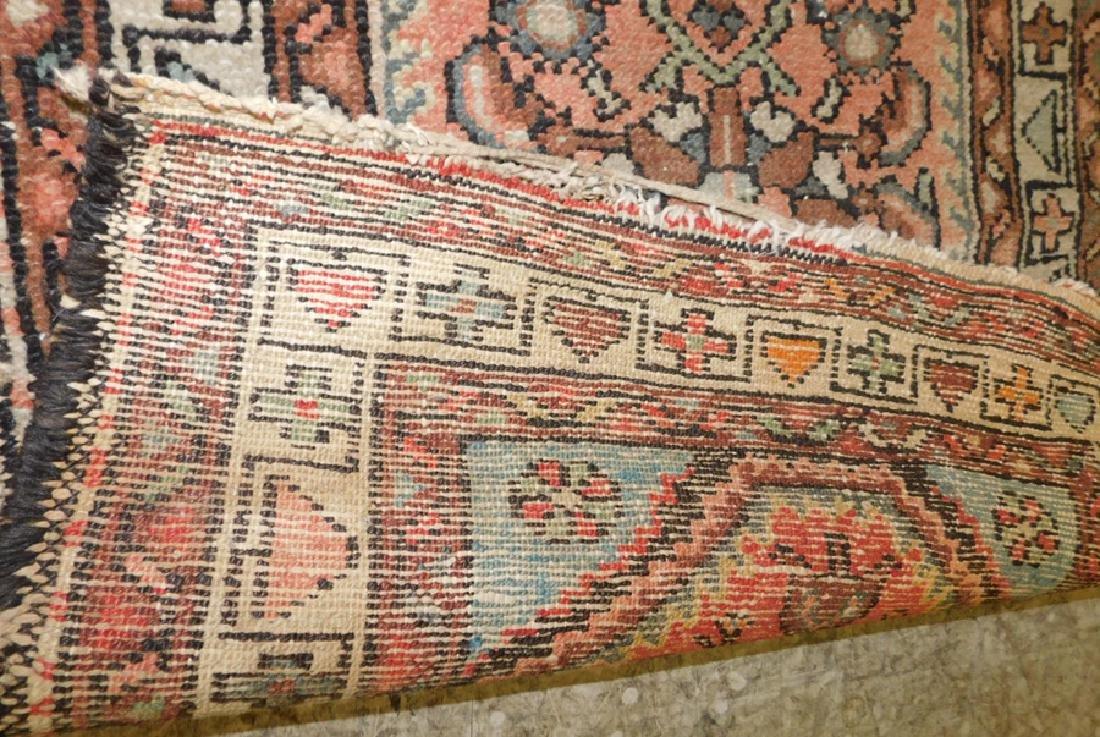2 antique handmade Oriental throw rugs - 2