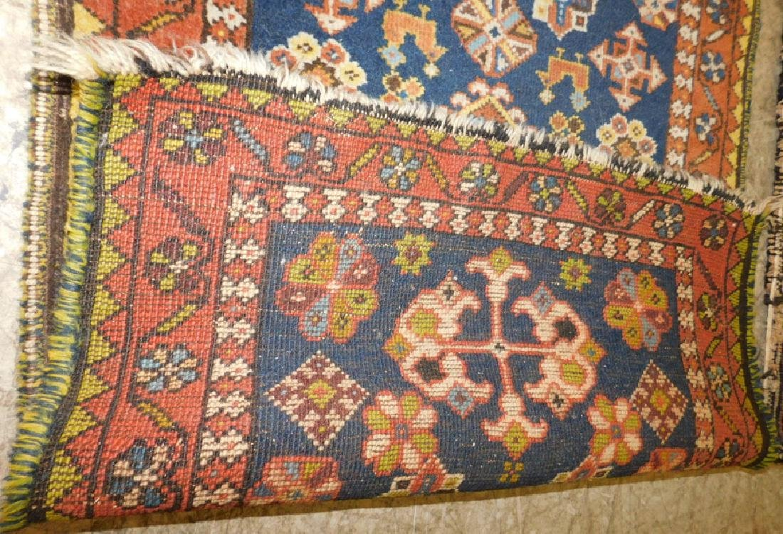 2 antique handmade Oriental throw rugs - 3