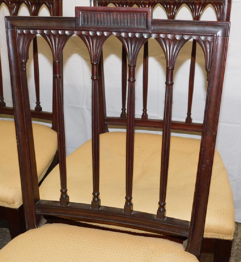 Set of 6 mahogany Hepplewhite side chairs - 2