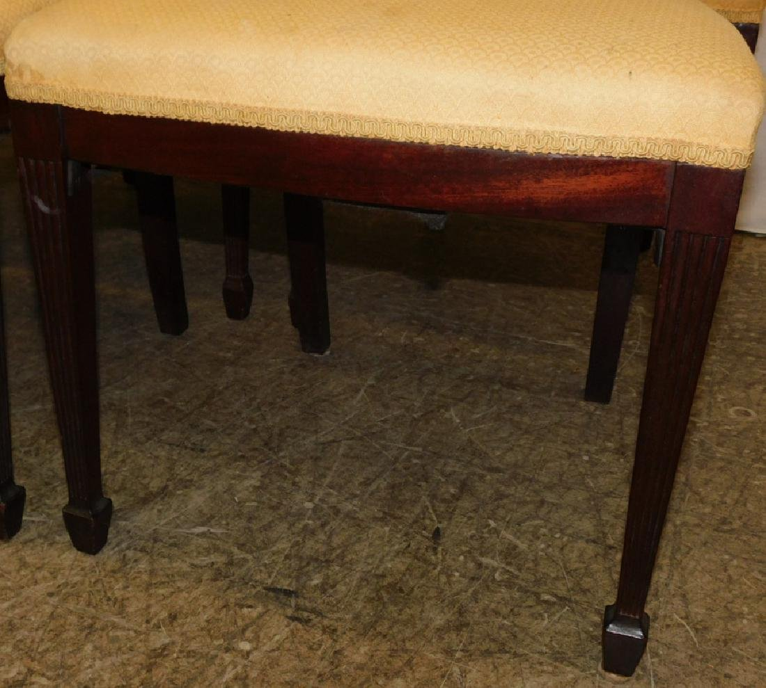 Set of 6 mahogany Hepplewhite side chairs - 3