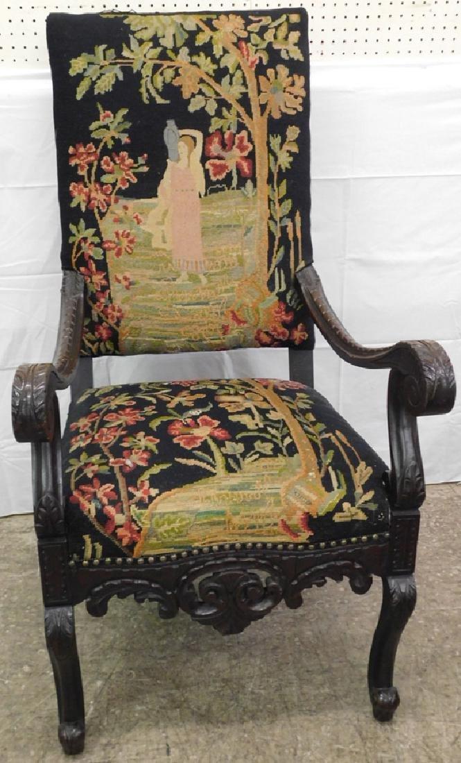 Needlepoint Italian arm chair