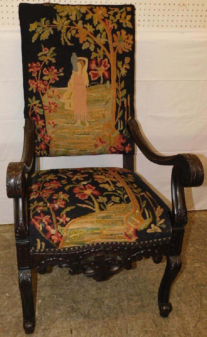 Needlepoint Italian arm chair - 2