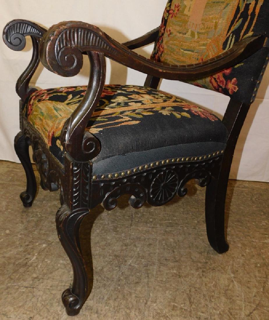 Needlepoint Italian arm chair - 5