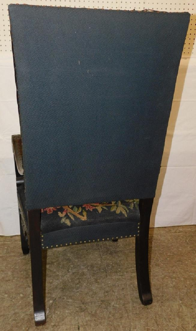 Needlepoint Italian arm chair - 6