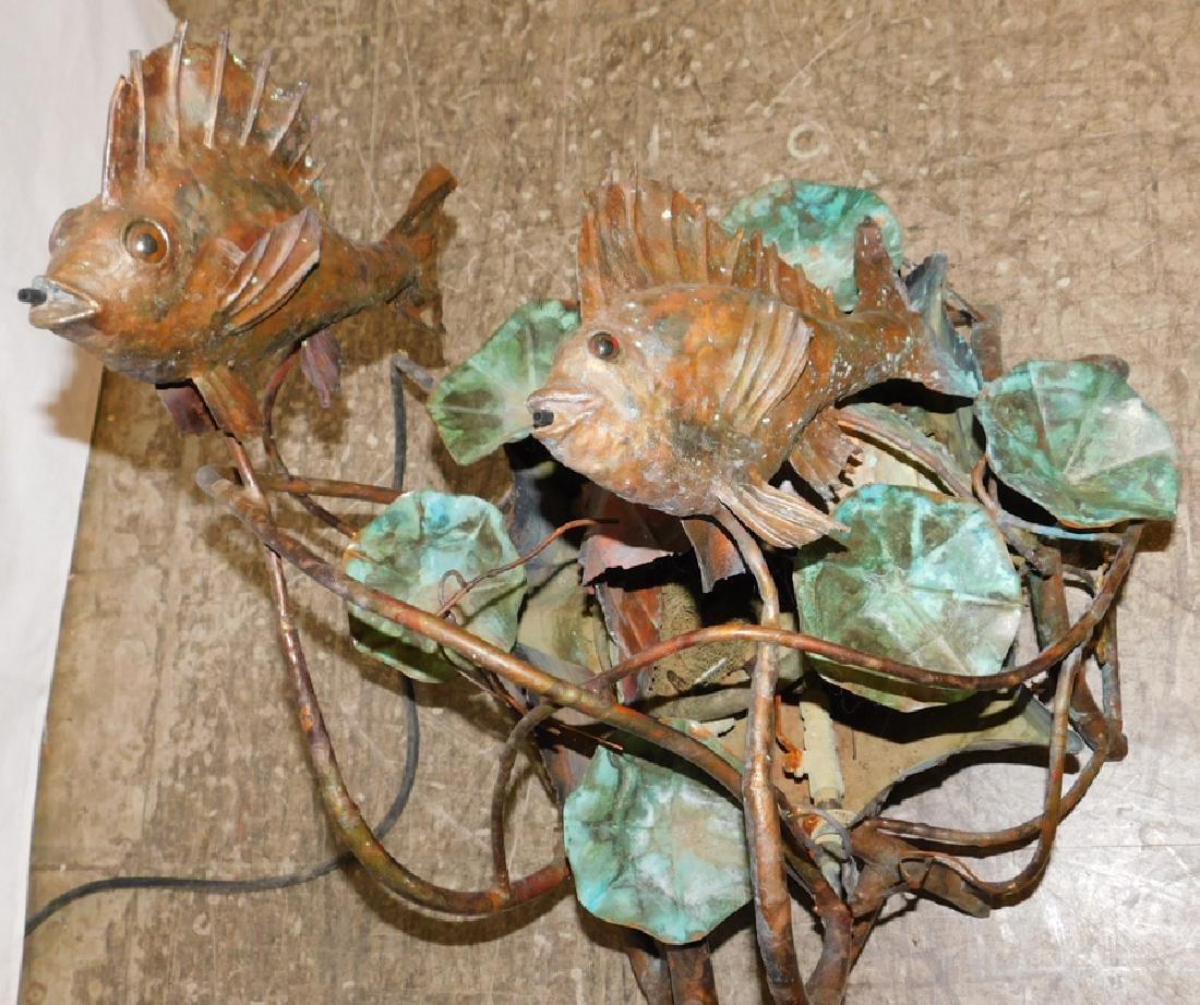 Copper fish water fountain - 2