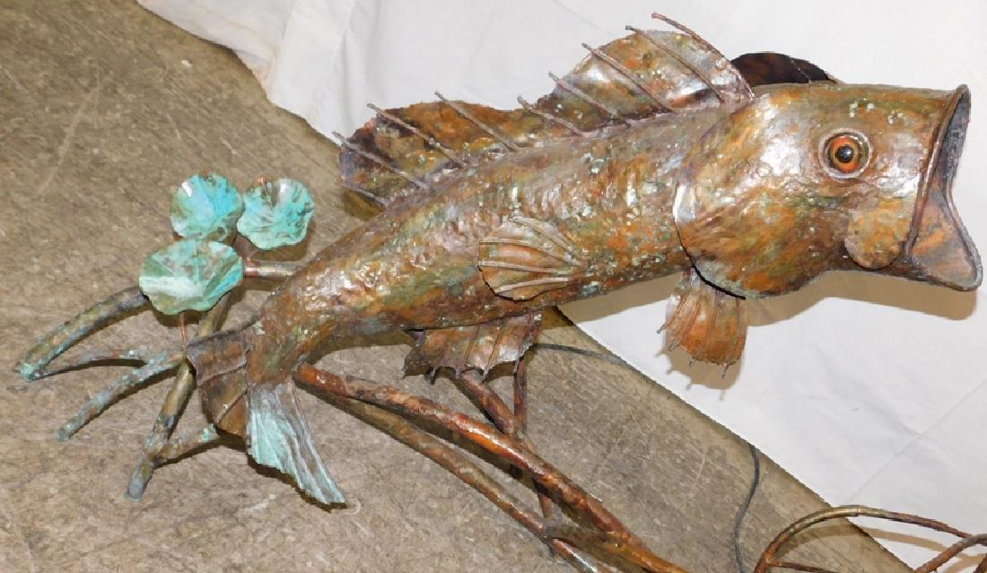 Copper fish water fountain - 3