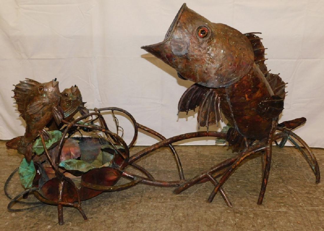 Copper fish water fountain - 4