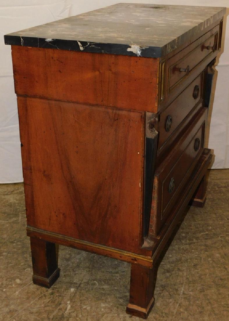 Marble top 3 drawer French commode - 3