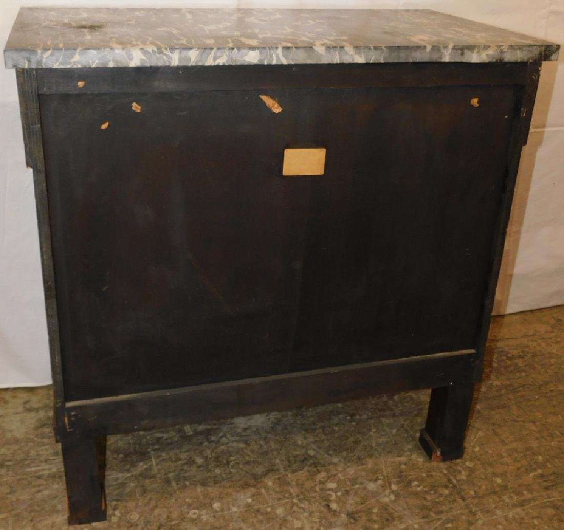 Marble top 3 drawer French commode - 4