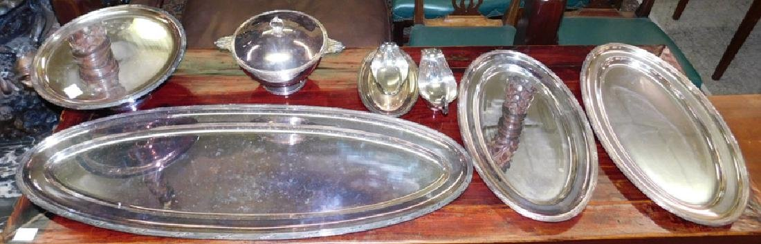 7 piece Continental silver plate serving set