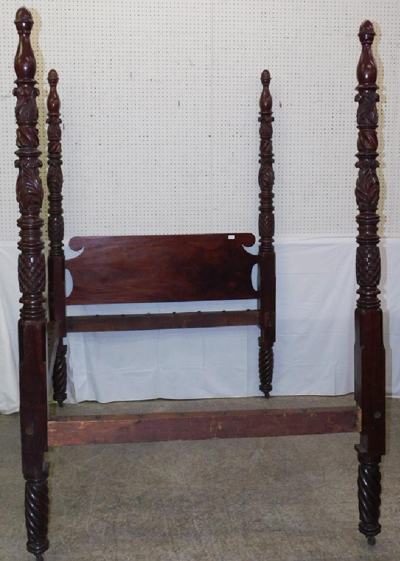 Mahogany pineapple carved double bed