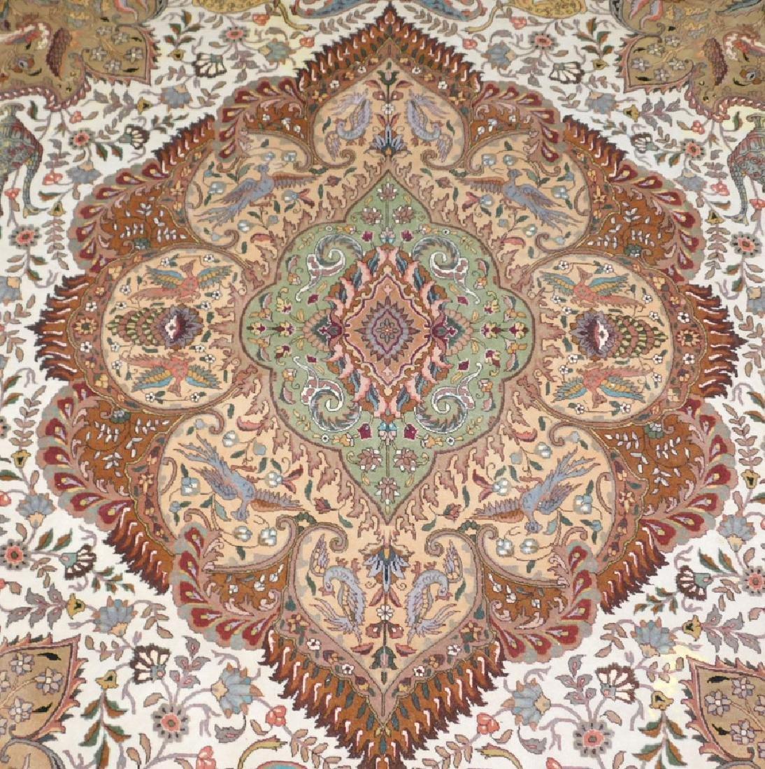 "Fine 9' 8"" x 13' 4"" handmade wool oriental rug - 10"