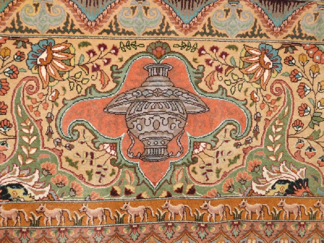 "Fine 9' 8"" x 13' 4"" handmade wool oriental rug - 3"