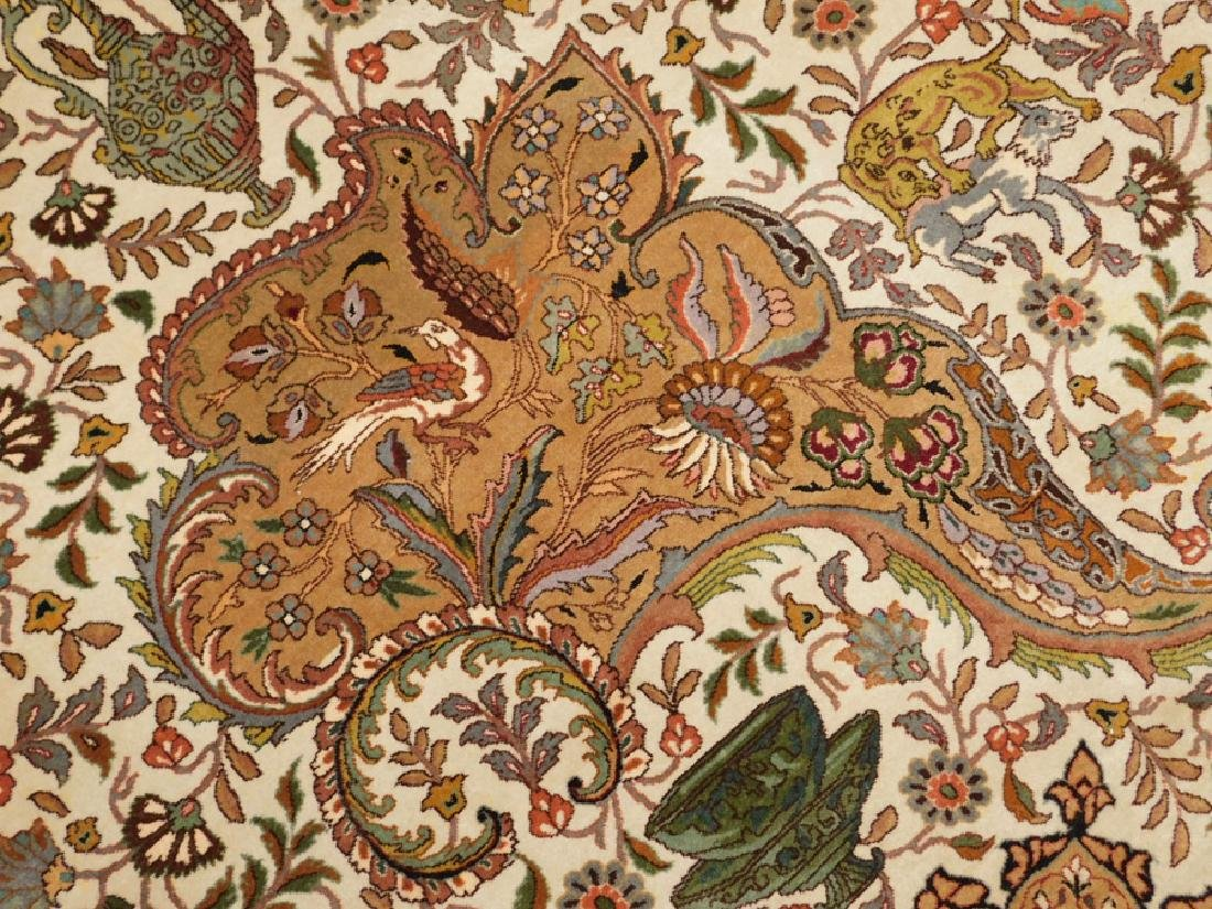 "Fine 9' 8"" x 13' 4"" handmade wool oriental rug - 5"