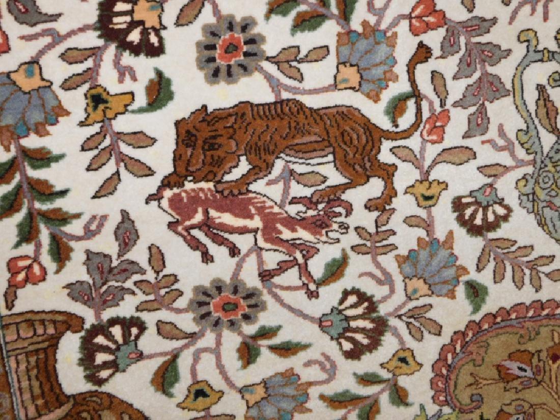 "Fine 9' 8"" x 13' 4"" handmade wool oriental rug - 6"
