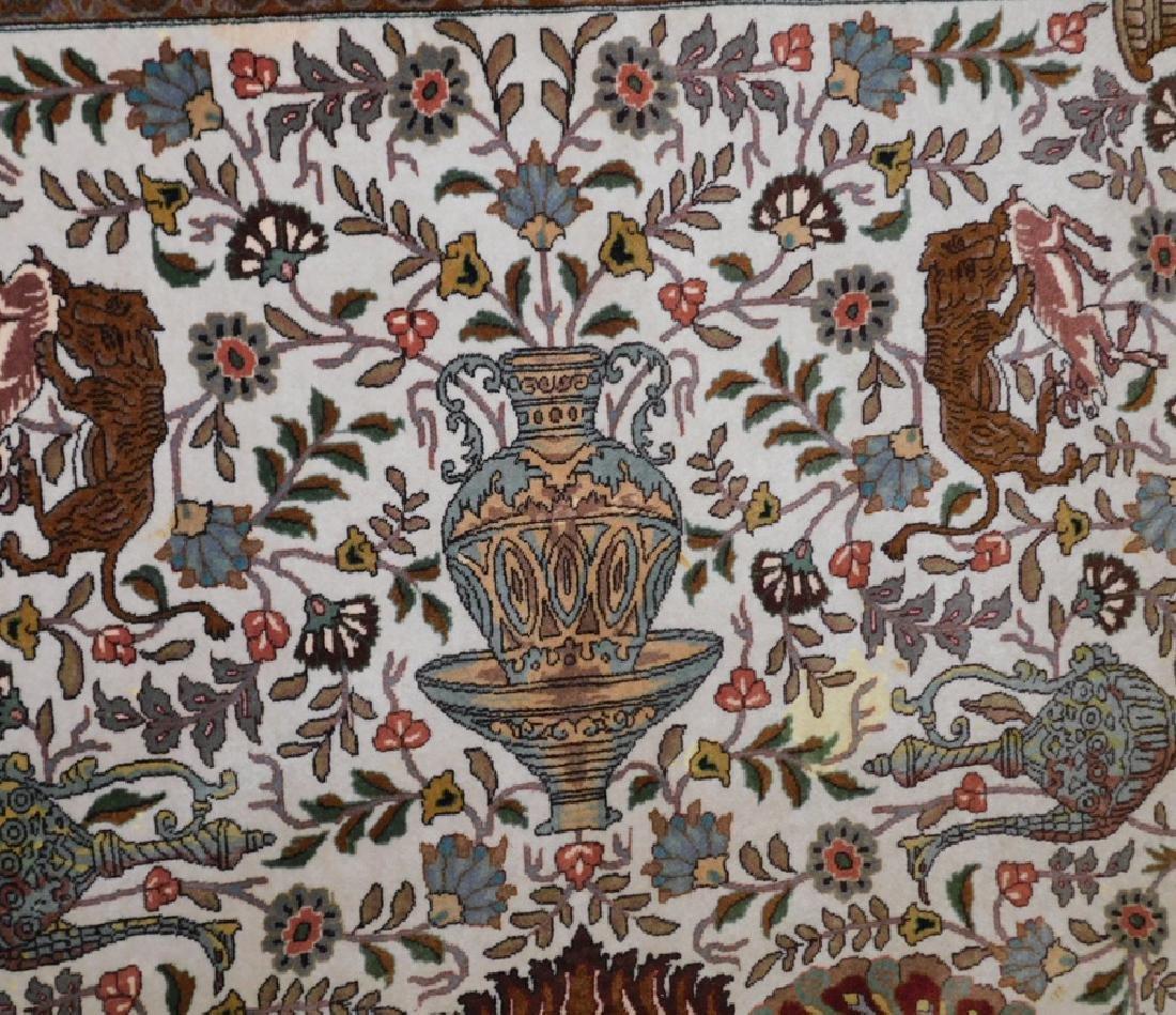 "Fine 9' 8"" x 13' 4"" handmade wool oriental rug - 7"