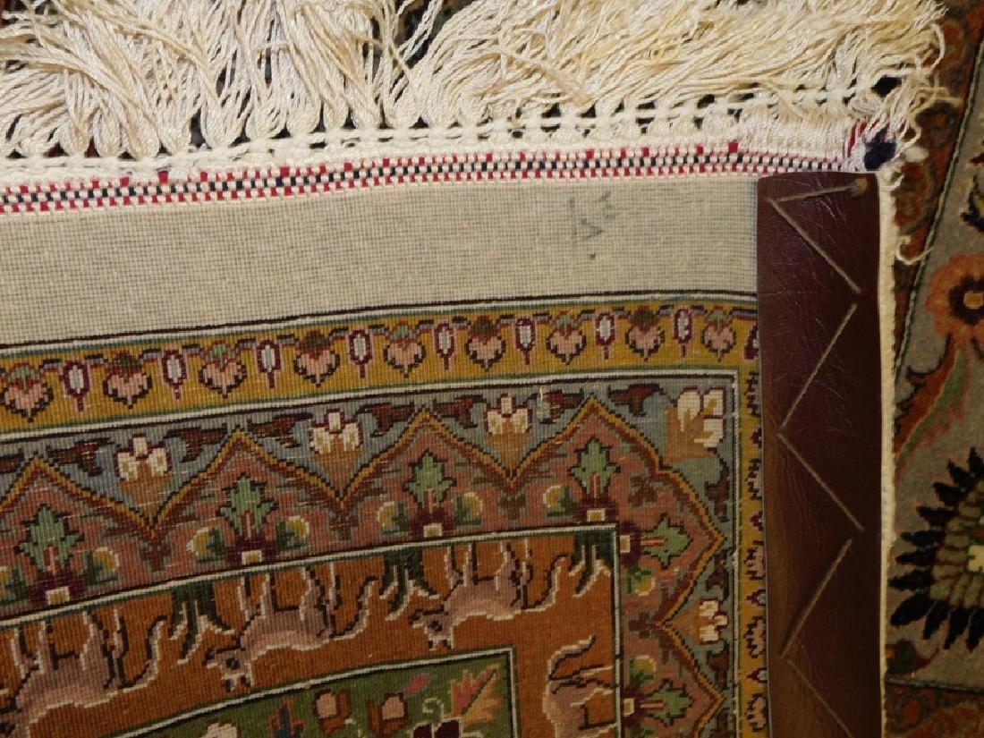 "Fine 9' 8"" x 13' 4"" handmade wool oriental rug - 8"