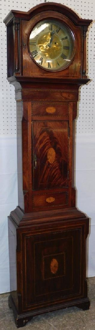 30 hr inlaid case grandmother one-day clock - 2