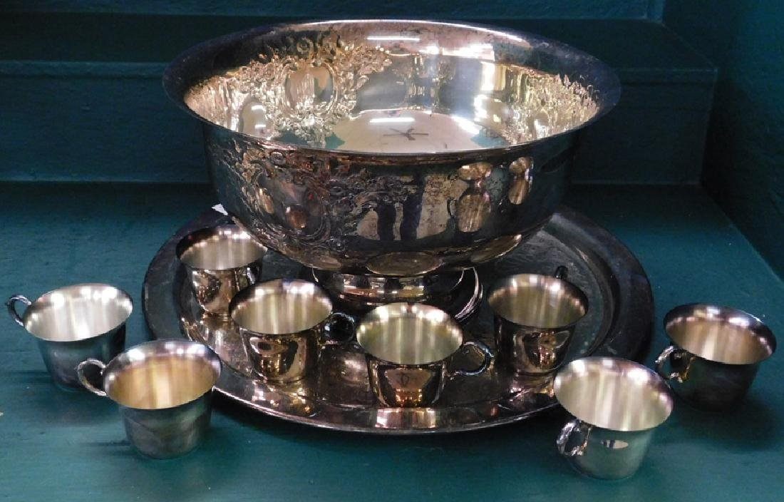 Silverplated punch set