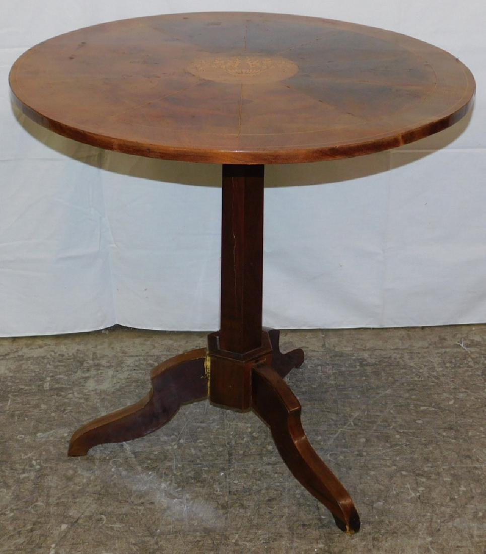 Inlaid tilt top tea table