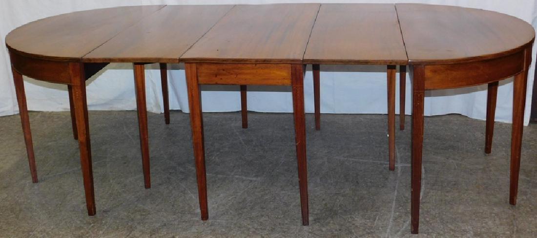 Bleached top mahogany 3-part banquet table