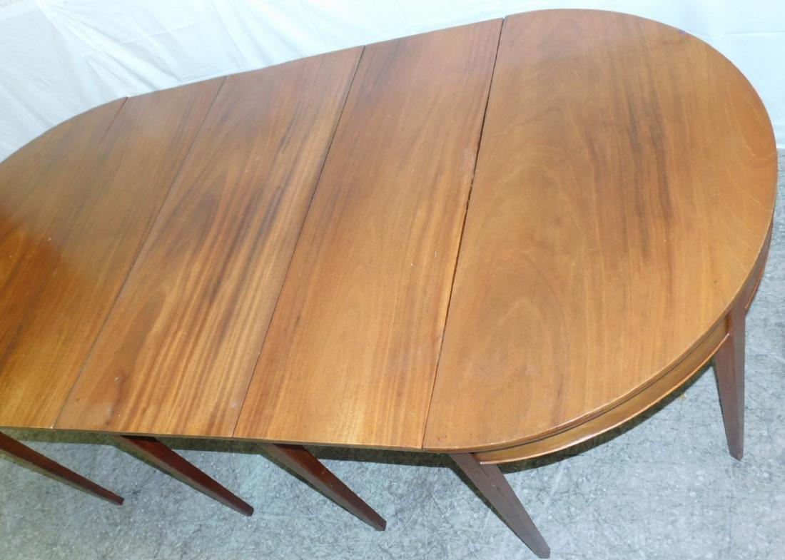 Bleached top mahogany 3-part banquet table - 2