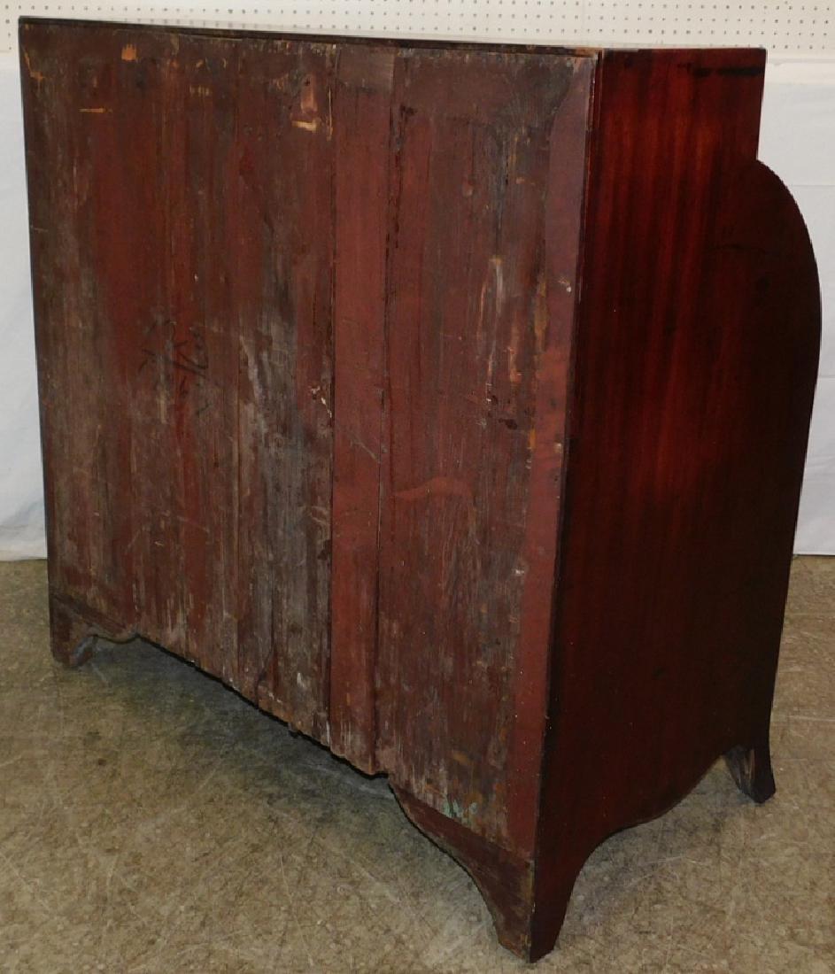 19th century Cylinder roll inlaid secretary desk - 4