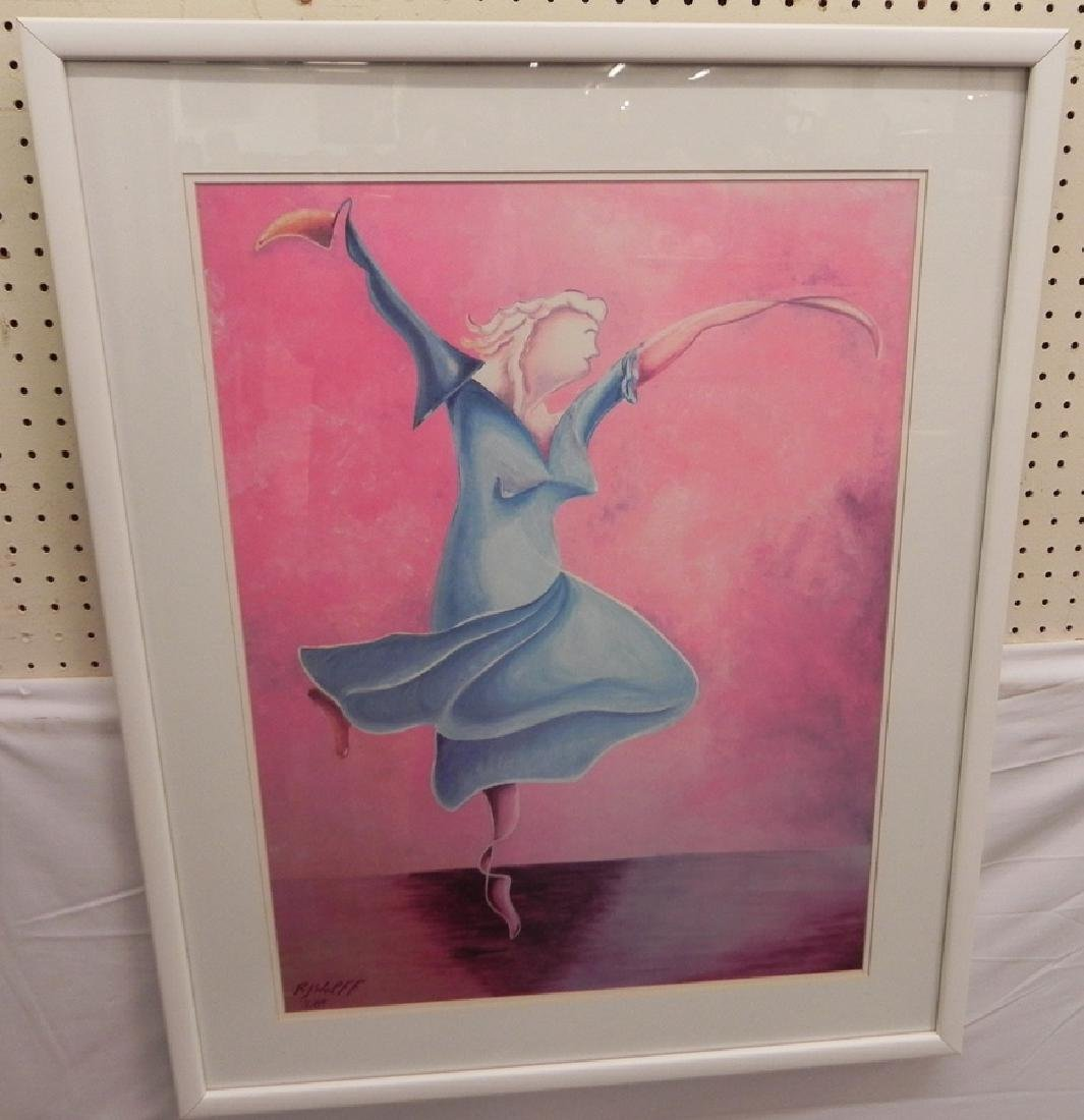 RJ Wolff print of female dancer