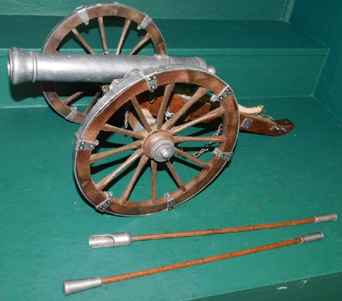 Aluminum and wood civil war cannon