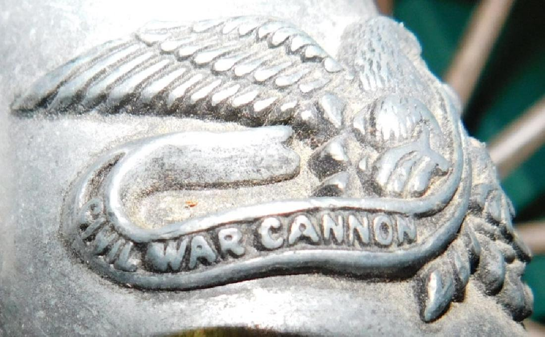 Aluminum and wood civil war cannon - 4