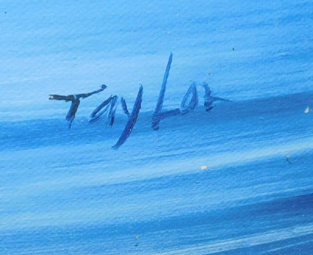 Oil on canvas, ocean scene, signed Taylor - 2