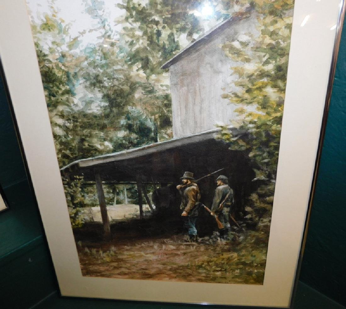 Pr. Signed watercolor, signed Stephen McCall - 2