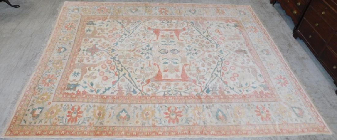"13' X 9'7"" handmade oriental rug"