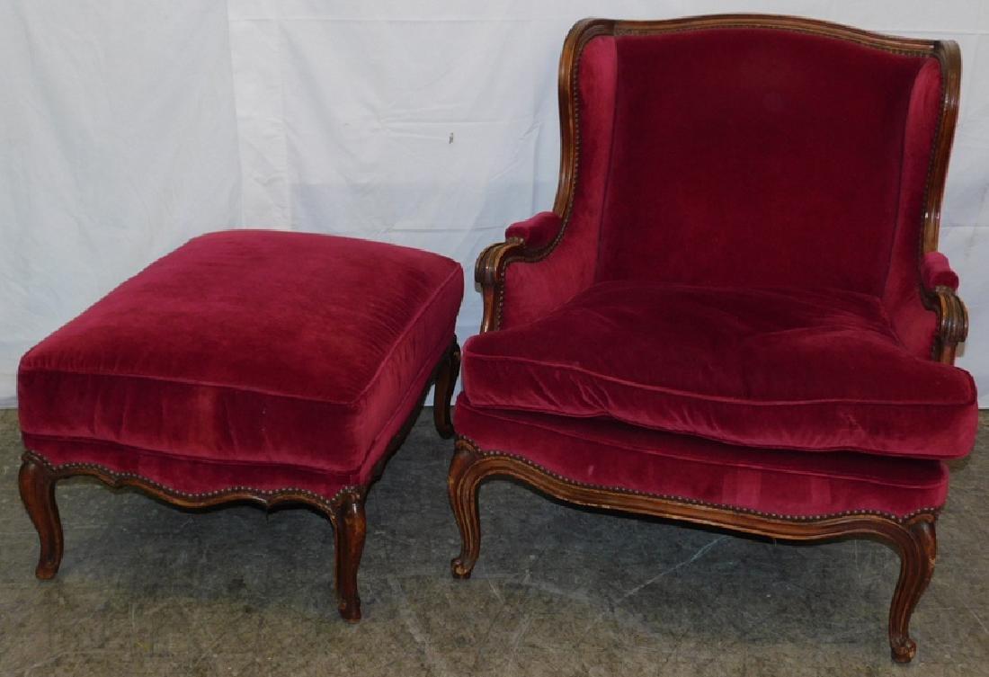 Louis XV Chair & Ottoman - 2
