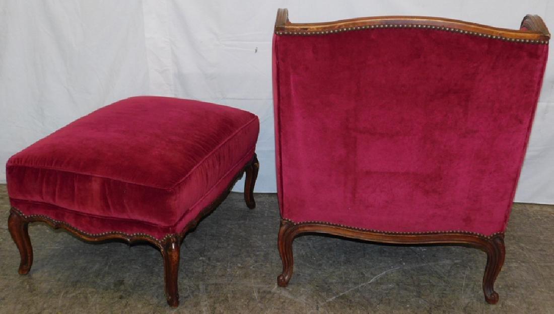 Louis XV Chair & Ottoman - 3